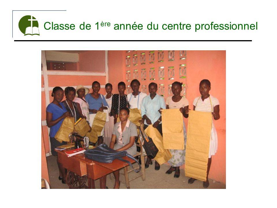 Classe de 1ère année du centre professionnel