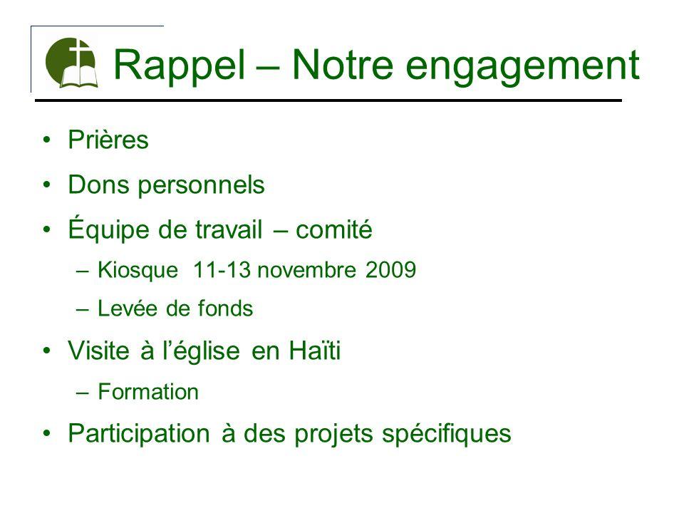 Rappel – Notre engagement