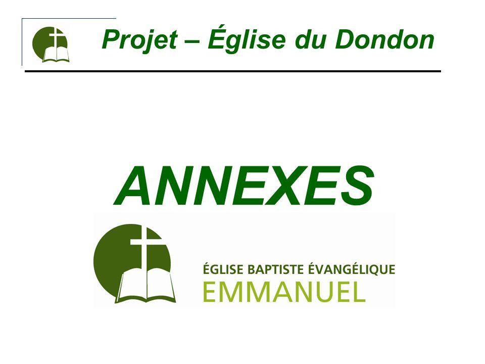 Projet – Église du Dondon ANNEXES