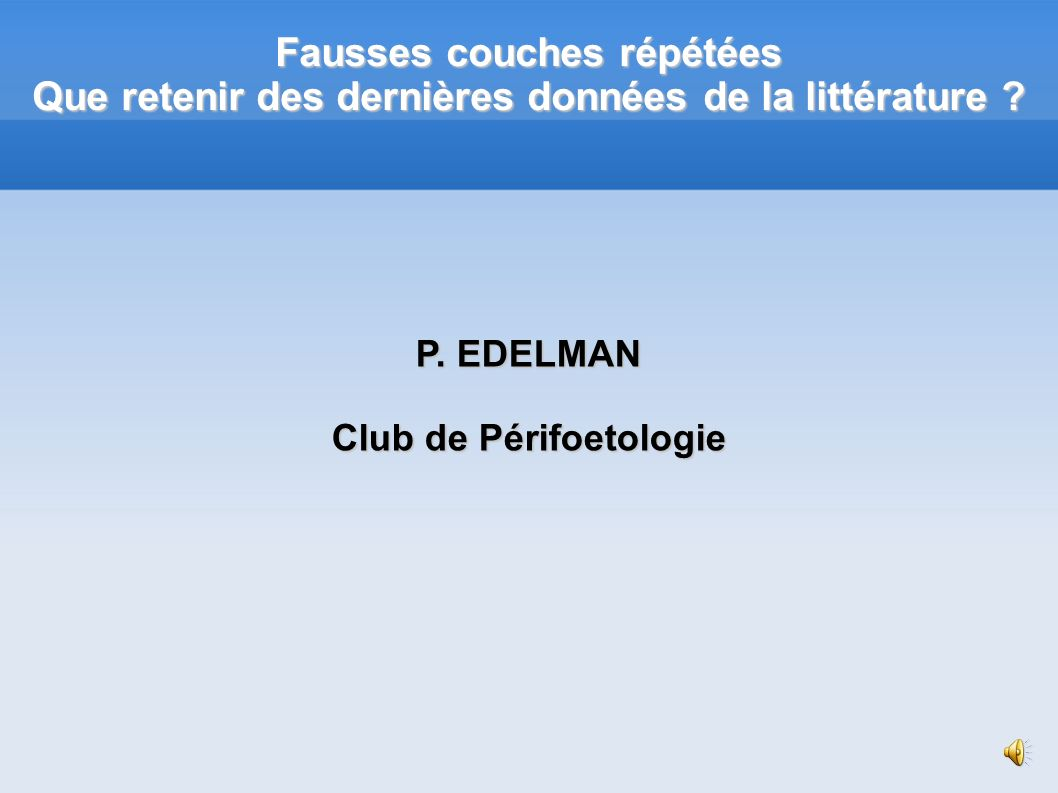 Club de Périfoetologie