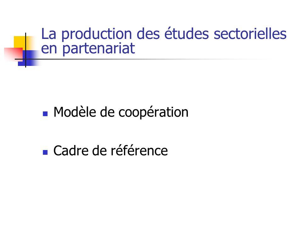 La production des études sectorielles en partenariat