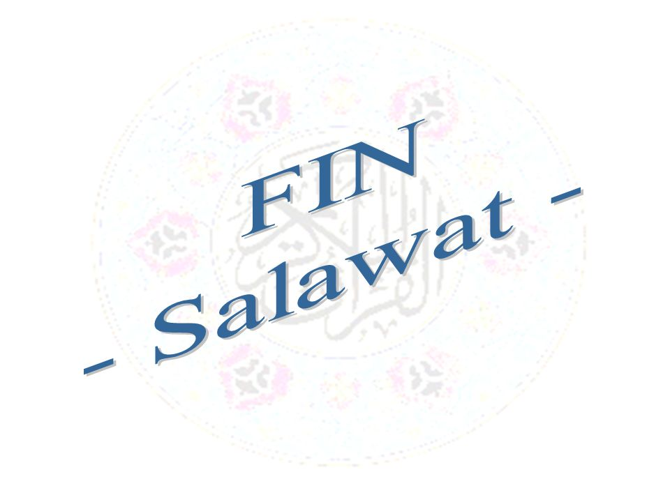 FIN - Salawat -
