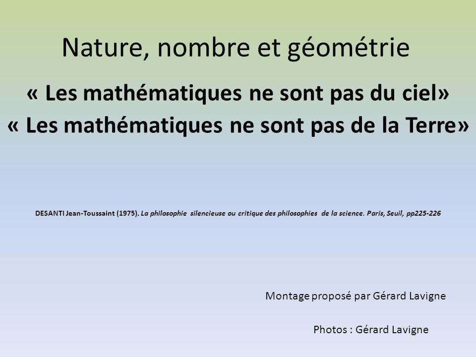 Nature, nombre et géométrie
