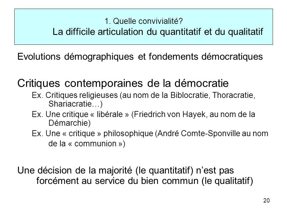 Critiques contemporaines de la démocratie