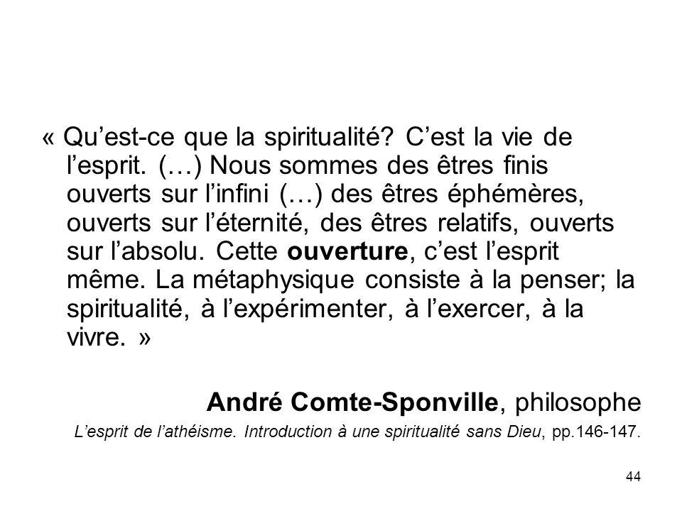 André Comte-Sponville, philosophe