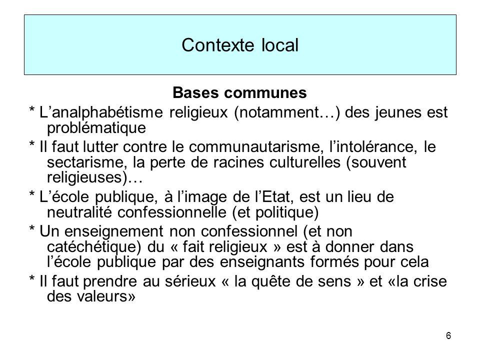 Contexte local Bases communes