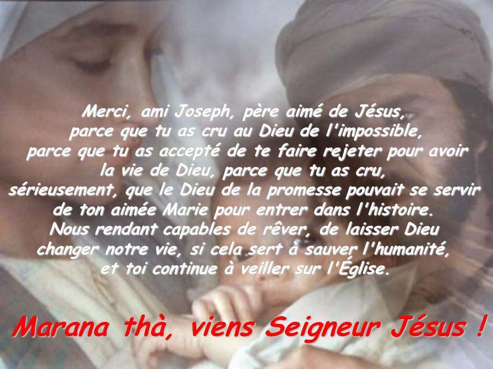 Marana thà, viens Seigneur Jésus !