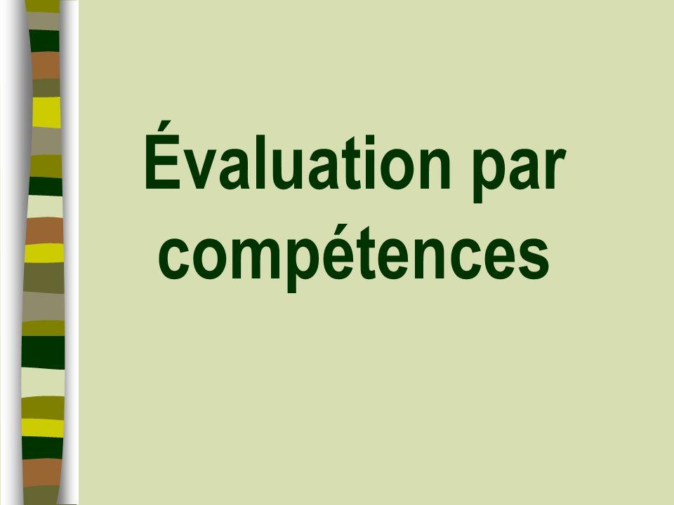 Évaluation par compétences