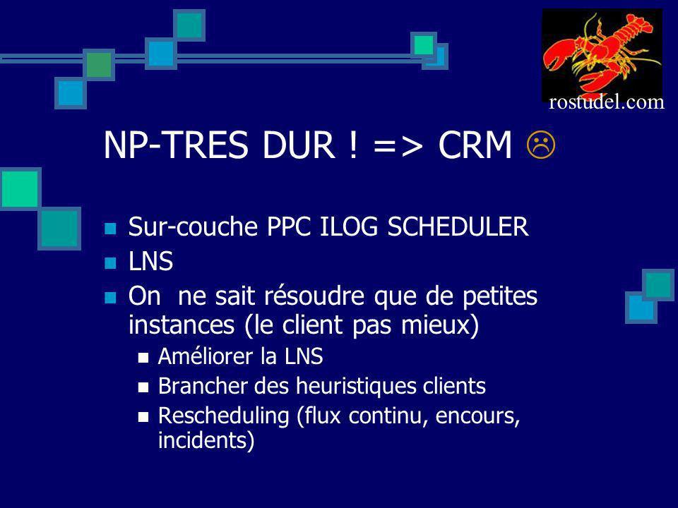 NP-TRES DUR ! => CRM  Sur-couche PPC ILOG SCHEDULER LNS