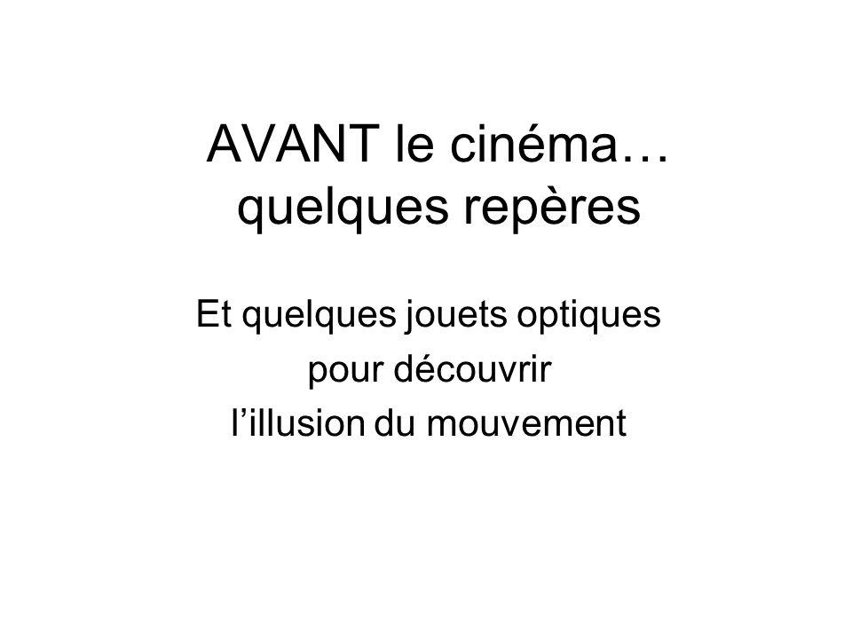 AVANT le cinéma… quelques repères