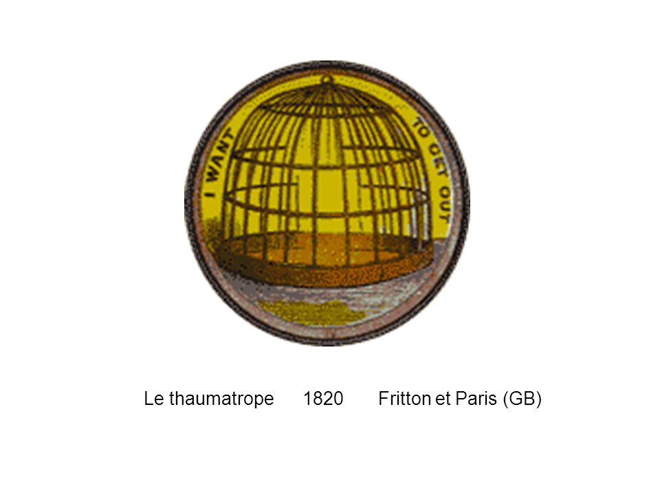 Le thaumatrope 1820 Fritton et Paris (GB)