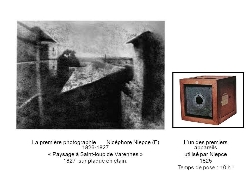 La première photographie Nicéphore Niepce (F) 1826-1827