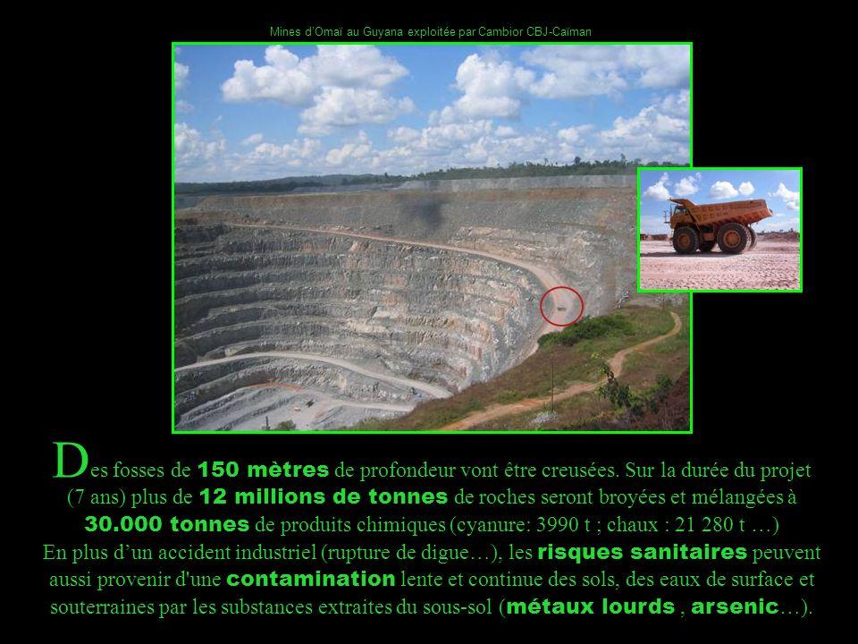 Mines d'Omaï au Guyana exploitée par Cambior CBJ-Caïman