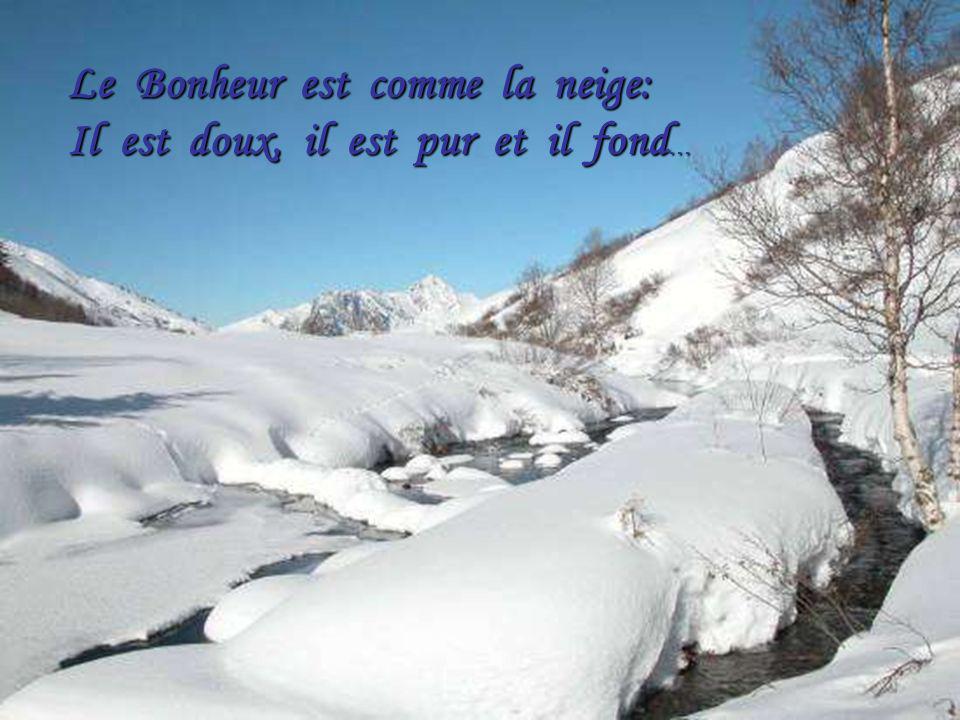 Le Bonheur est comme la neige: