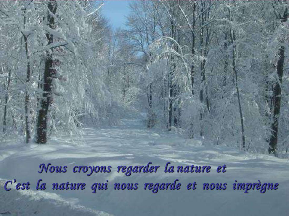 Nous croyons regarder la nature et