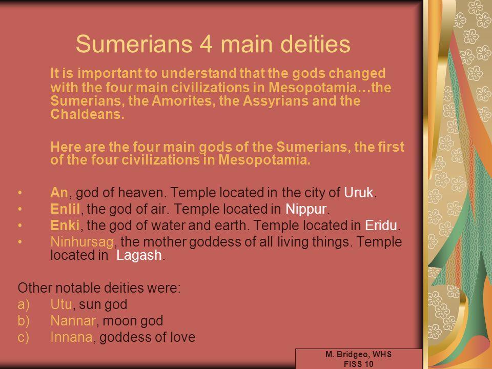 Sumerians 4 main deities