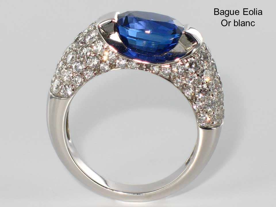 Bague Eolia Or blanc