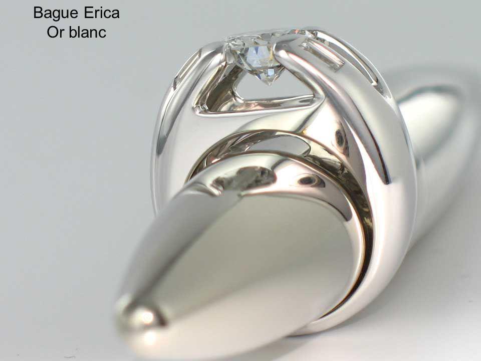 Bague Erica Or blanc