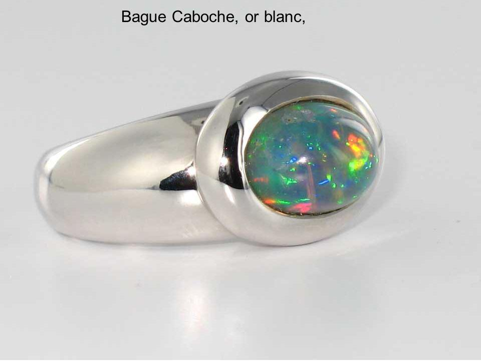 Bague Caboche, or blanc,