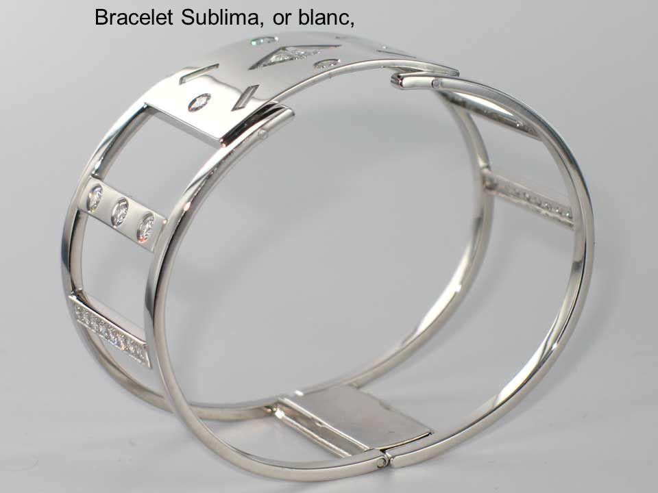 Bracelet Sublima, or blanc,