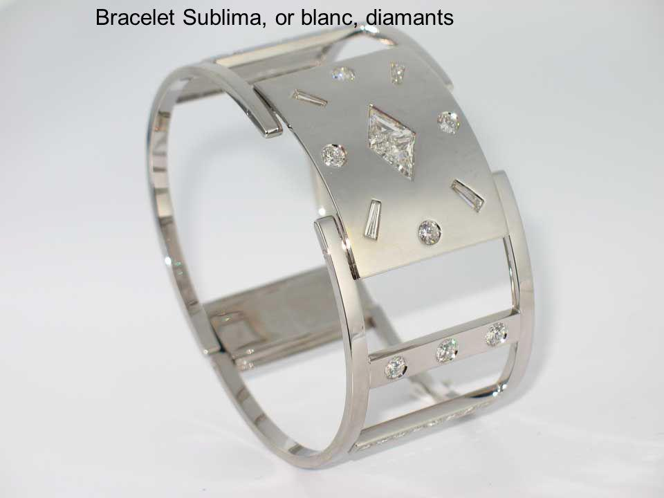 Bracelet Sublima, or blanc, diamants