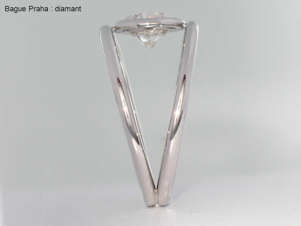 Bague Praha : diamant