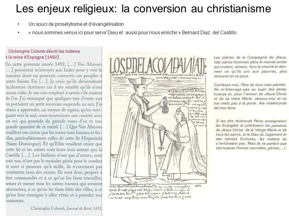 Les enjeux religieux: la conversion au christianisme