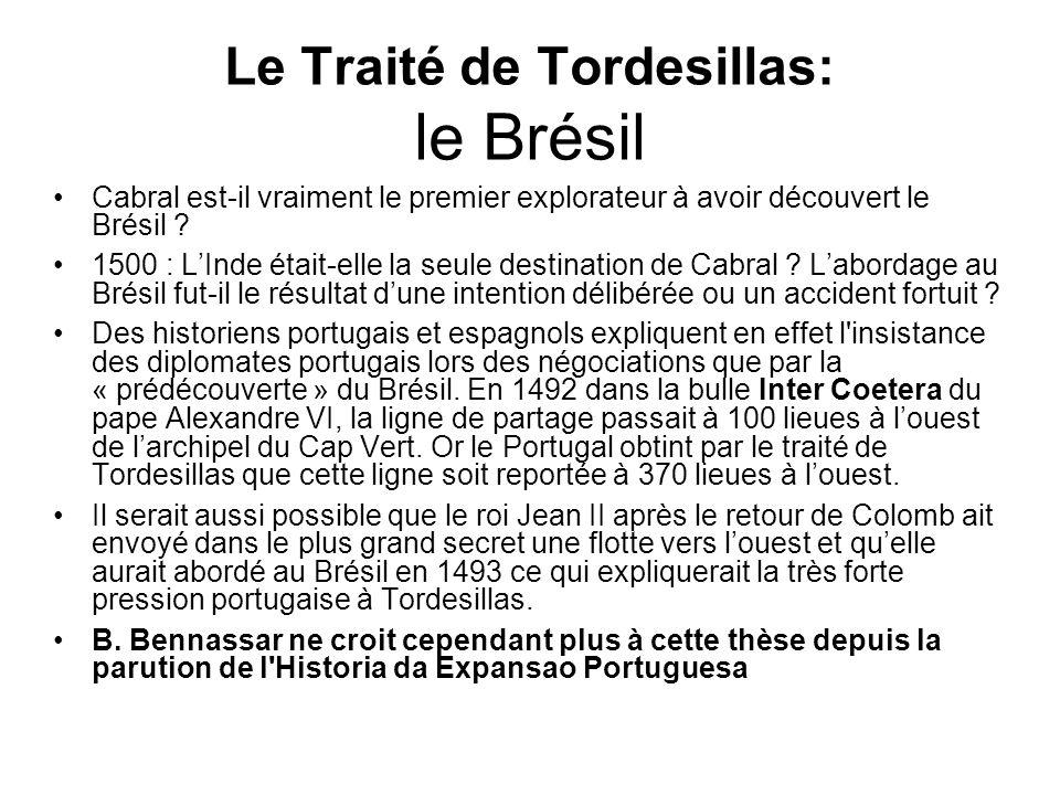 Le Traité de Tordesillas: le Brésil