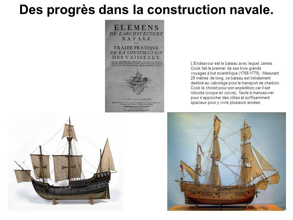 Des progrès dans la construction navale.