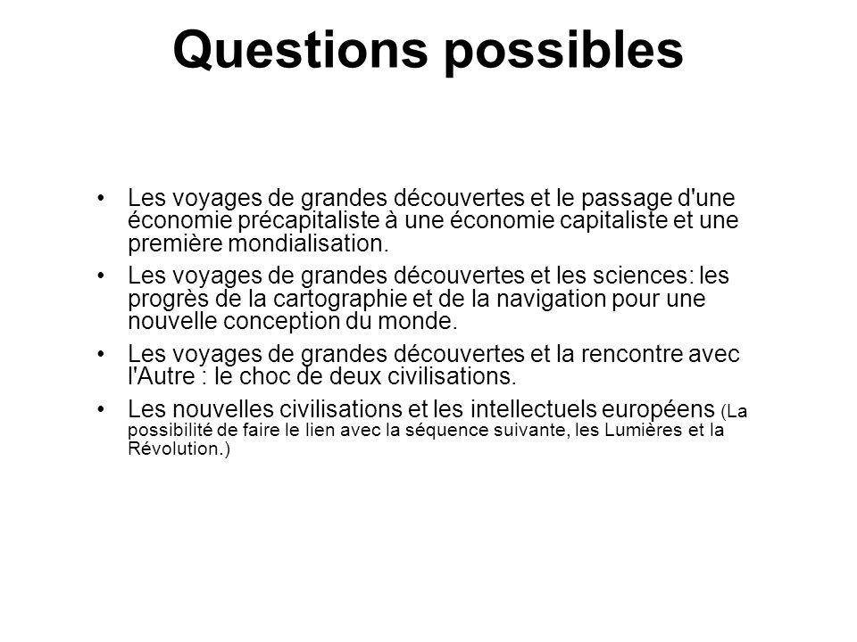 Questions possibles