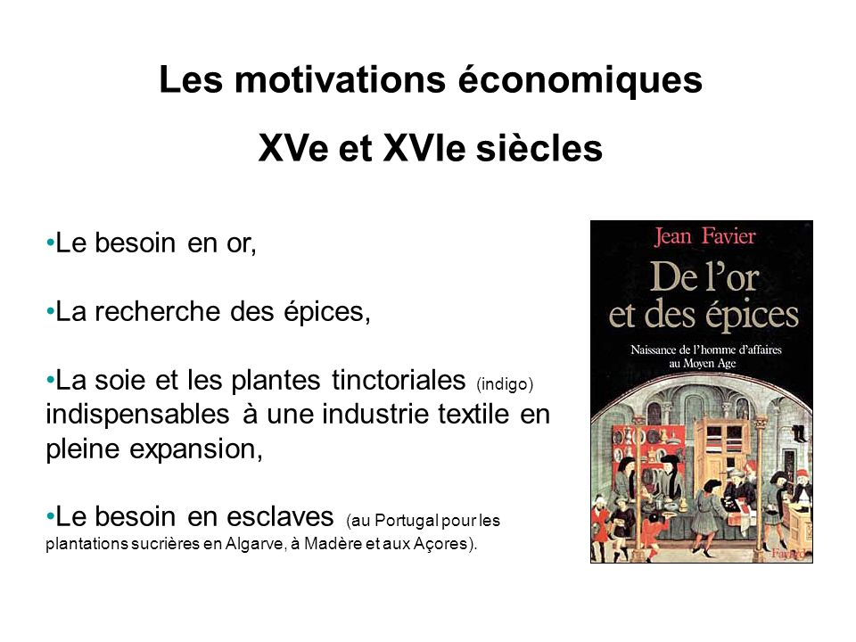 Les motivations économiques