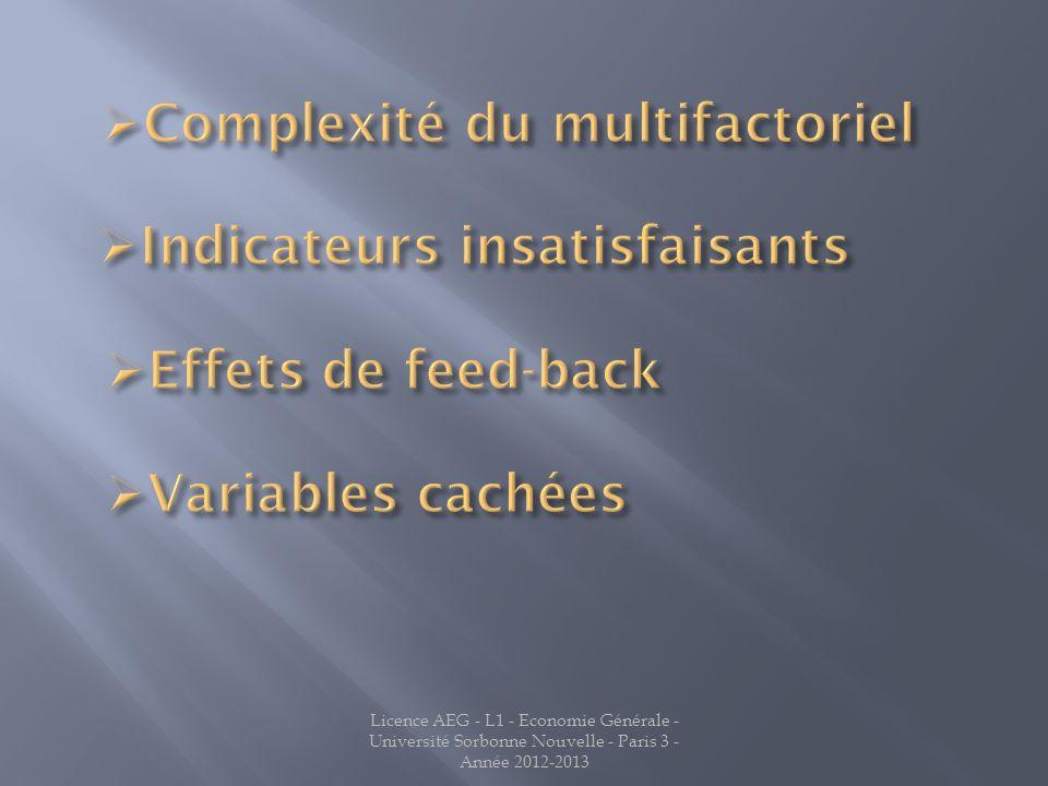 Complexité du multifactoriel