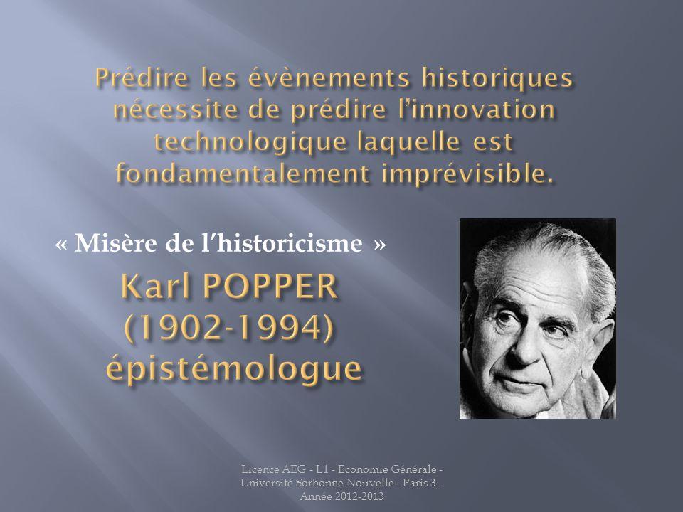 « Misère de l'historicisme »