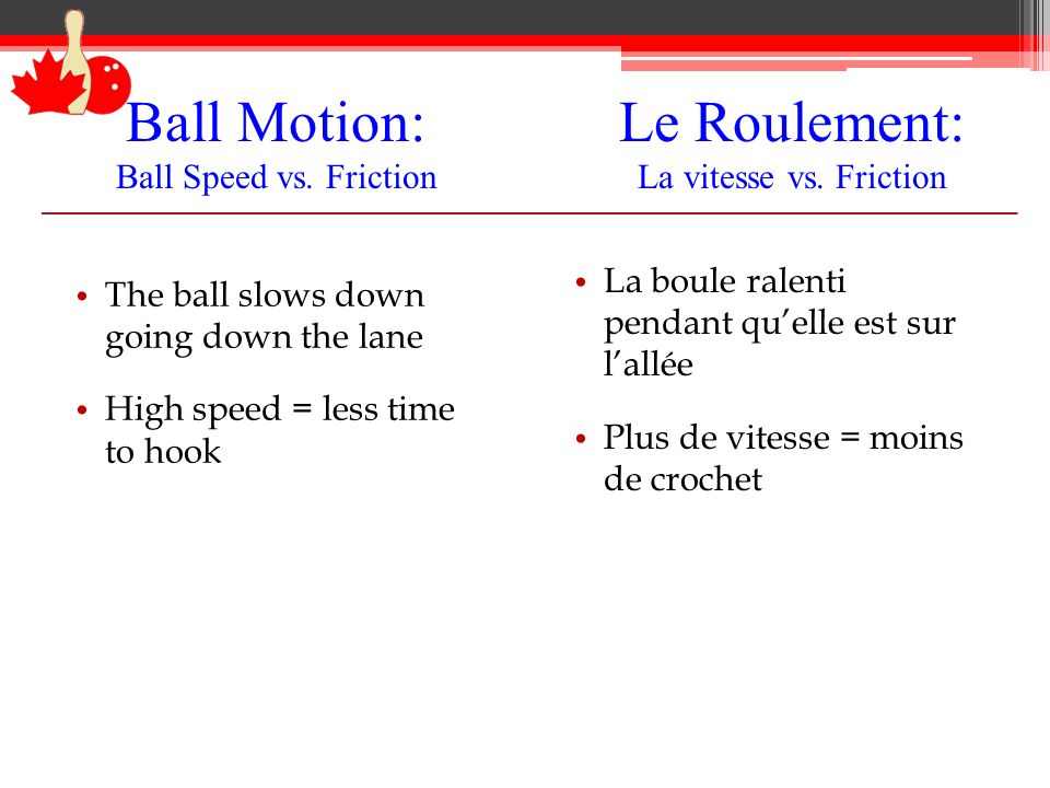 Ball Motion: Ball Speed vs. Friction