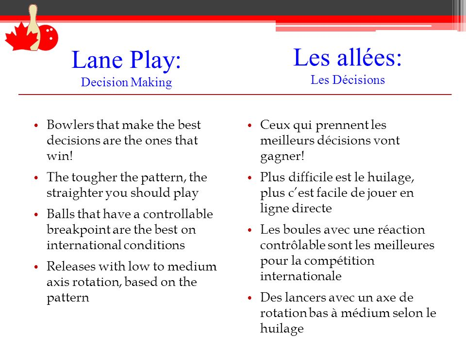 Lane Play: Decision Making
