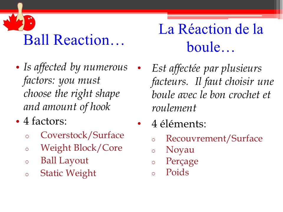 La Réaction de la boule…