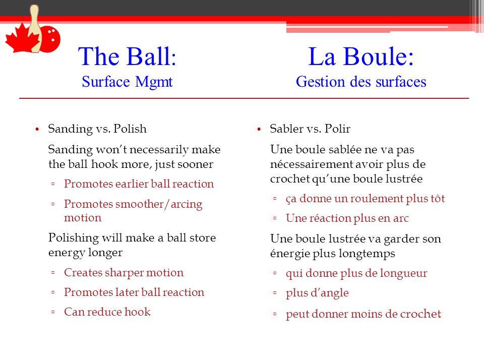La Boule: Gestion des surfaces