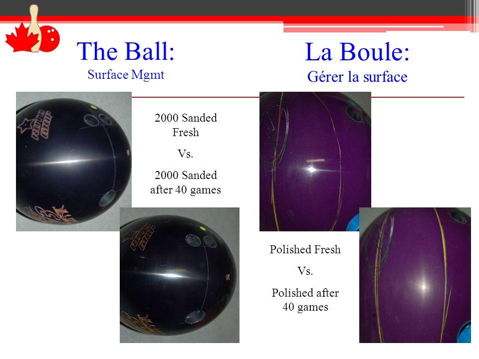 La Boule: Gérer la surface