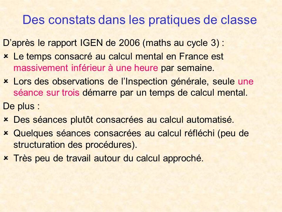 Des constats dans les pratiques de classe