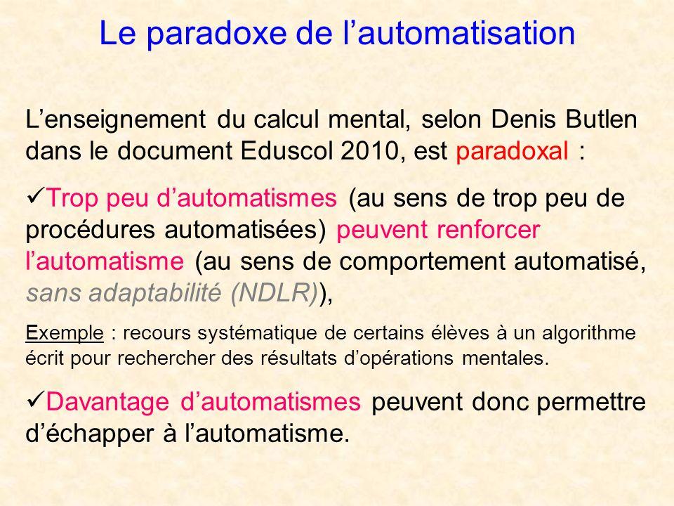 Le paradoxe de l'automatisation