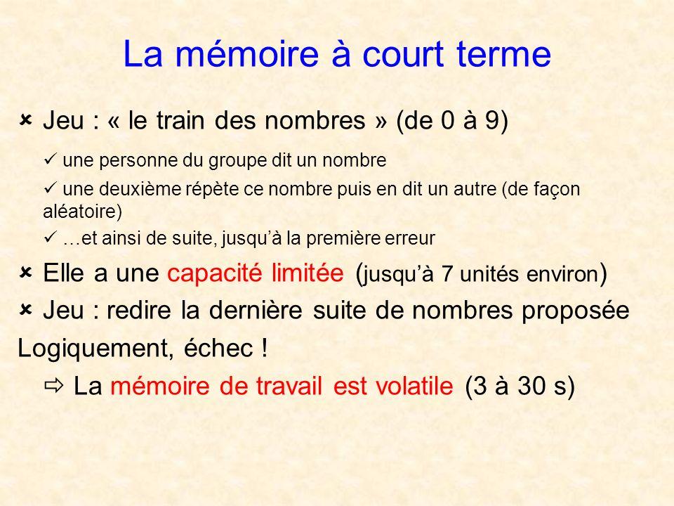 La mémoire à court terme