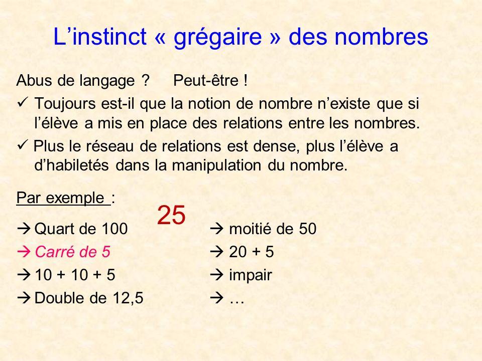 L'instinct « grégaire » des nombres