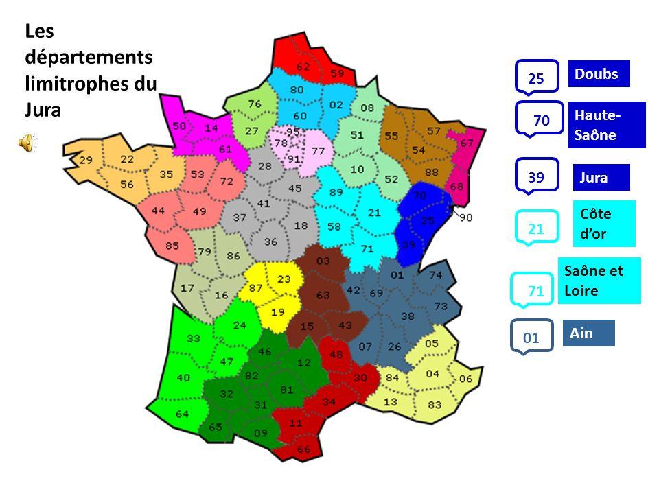 Les départements limitrophes du Jura