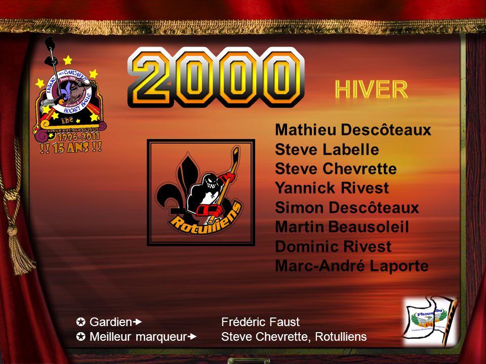 Hiver Mathieu Descôteaux Steve Labelle Steve Chevrette Yannick Rivest
