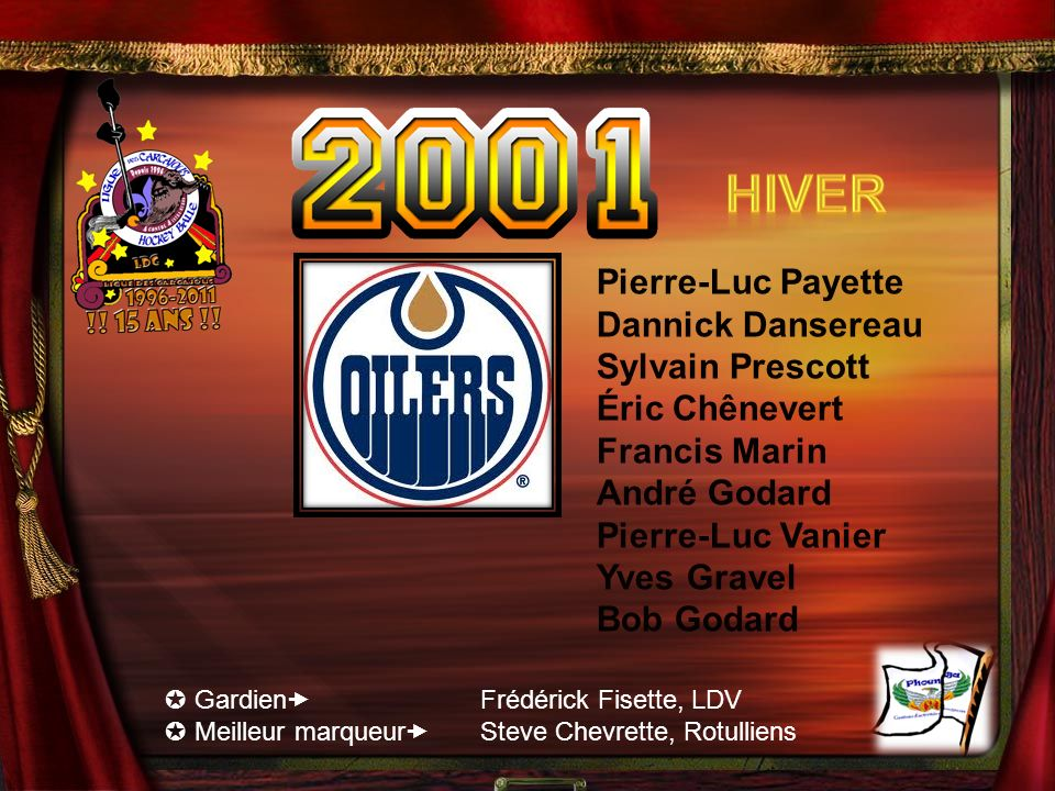 Hiver Pierre-Luc Payette Dannick Dansereau Sylvain Prescott