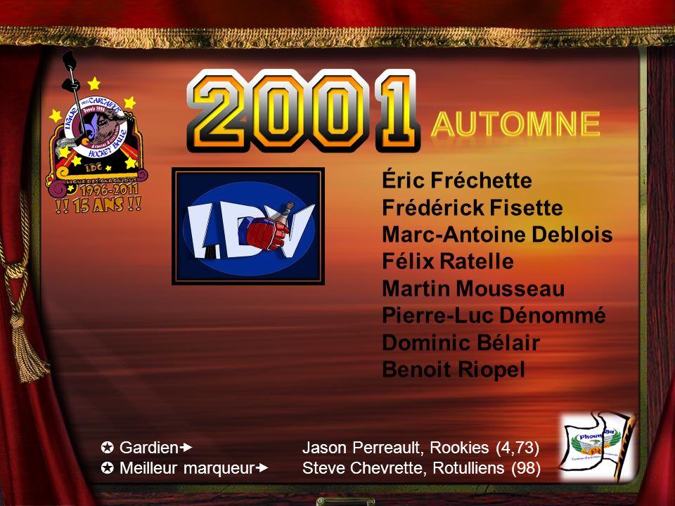 Automne Éric Fréchette Frédérick Fisette Marc-Antoine Deblois