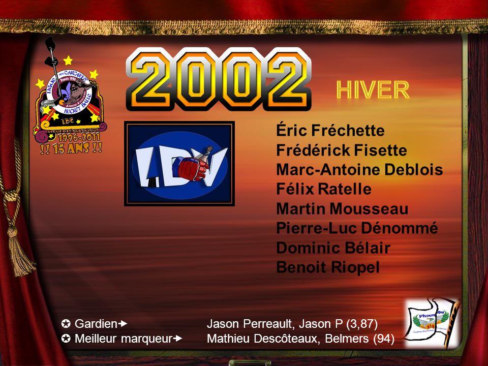 Hiver Éric Fréchette Frédérick Fisette Marc-Antoine Deblois