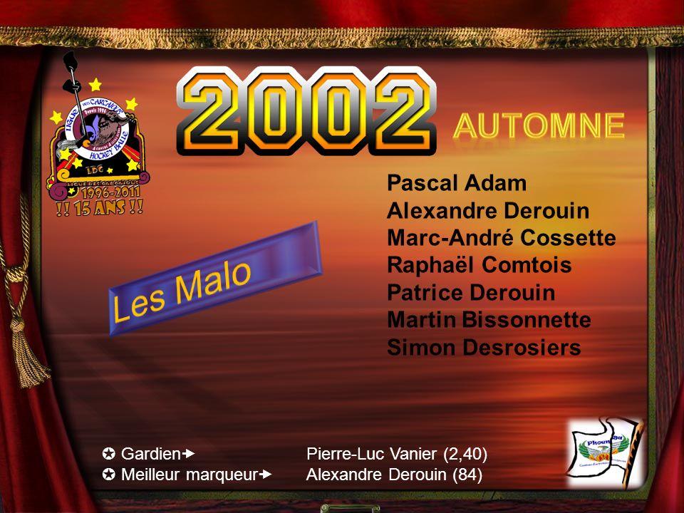 Les Malo Automne Pascal Adam Alexandre Derouin Marc-André Cossette