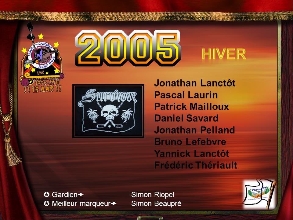 Hiver Jonathan Lanctôt Pascal Laurin Patrick Mailloux Daniel Savard