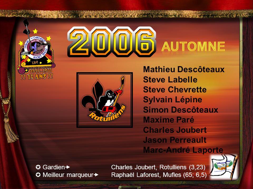 Automne Mathieu Descôteaux Steve Labelle Steve Chevrette